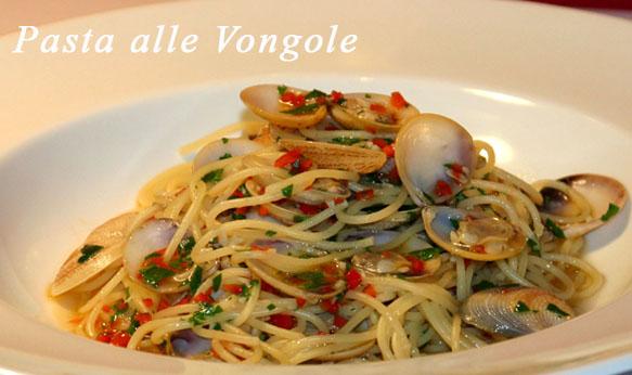 Spaghetti with le Vongole (clams)